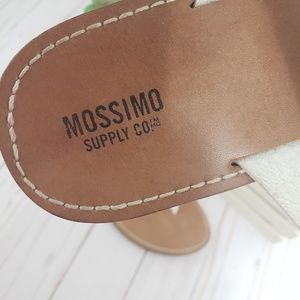 Mossimo Supply Co. Shoes - Mossimo White PU Leather Thong Sandals